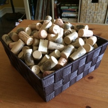 There are over 200 corks in this basket.  This is only half of the corks that were used.