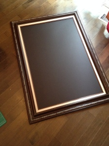 The frame we found in the cabin with the foam board in it.