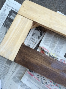 MinWax Special Walnut stain makes new wood look old and weathered.