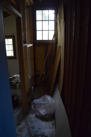 This was a closet. The wall will be removed to increase the size of the room. We have a tiny wood stove to go in this room.