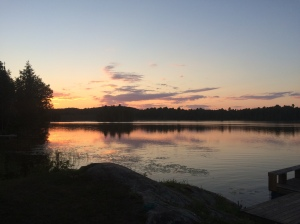 Sunset on Bow Lake.