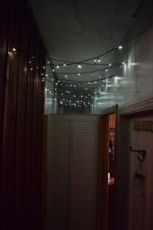 These string lights keep their charge most of the night as well. So middle-of-the-night trips to the indoor toilet aren't in darkness.