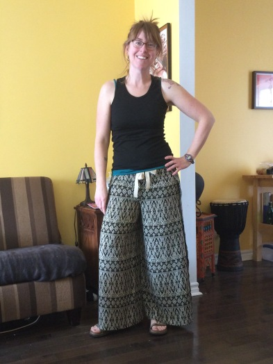 The final product. Fun, flowing wrap pants for summer. A funky, boho style that speaks to my wandering heart.