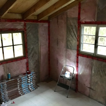 With new insulation and vapor barrier, we are ready for the next step.