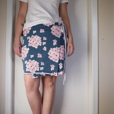 Alabama Chanin wrap skirt in French terry