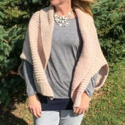 This Veronika cocoon sweater by Very Shannon was knit from the wool of sheep raised on Milkhouse farm and dairy, which is just a short drive away. The wool was also hand-dyed with natural dyes.